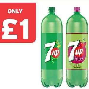 7up/7up Free/7up Free Cherry 2 Litre Bottles are £1 @ One Stop