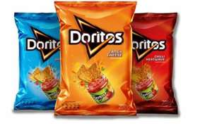 Doritos Flamin Hot/ Tangy Cheese/Cool Original 180g Packs are 90p @ One Stop Convenience Stores