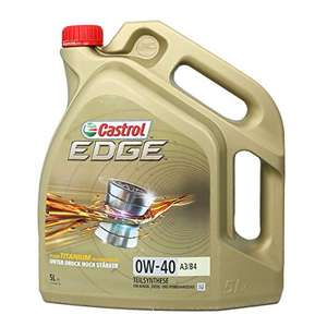 Castrol 24875 EDGE Engine Oil 0W-40 A3/B4 5 Litres £25.10 @ Amazon