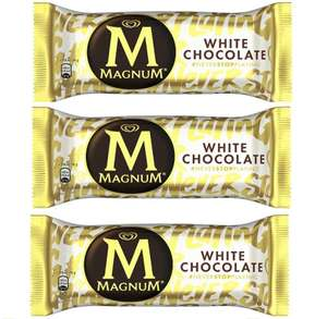 Magnum White Chocolate Ice Creams 110ml 50p each or 3 for £1 in store Fulton Rothwell Leeds