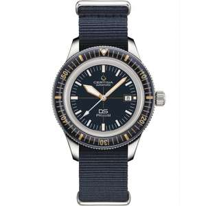 Certina Men's DS PH200M Heritage NATO Powermatic 80 Watch - £667 delivered @ Francis & Gaye
