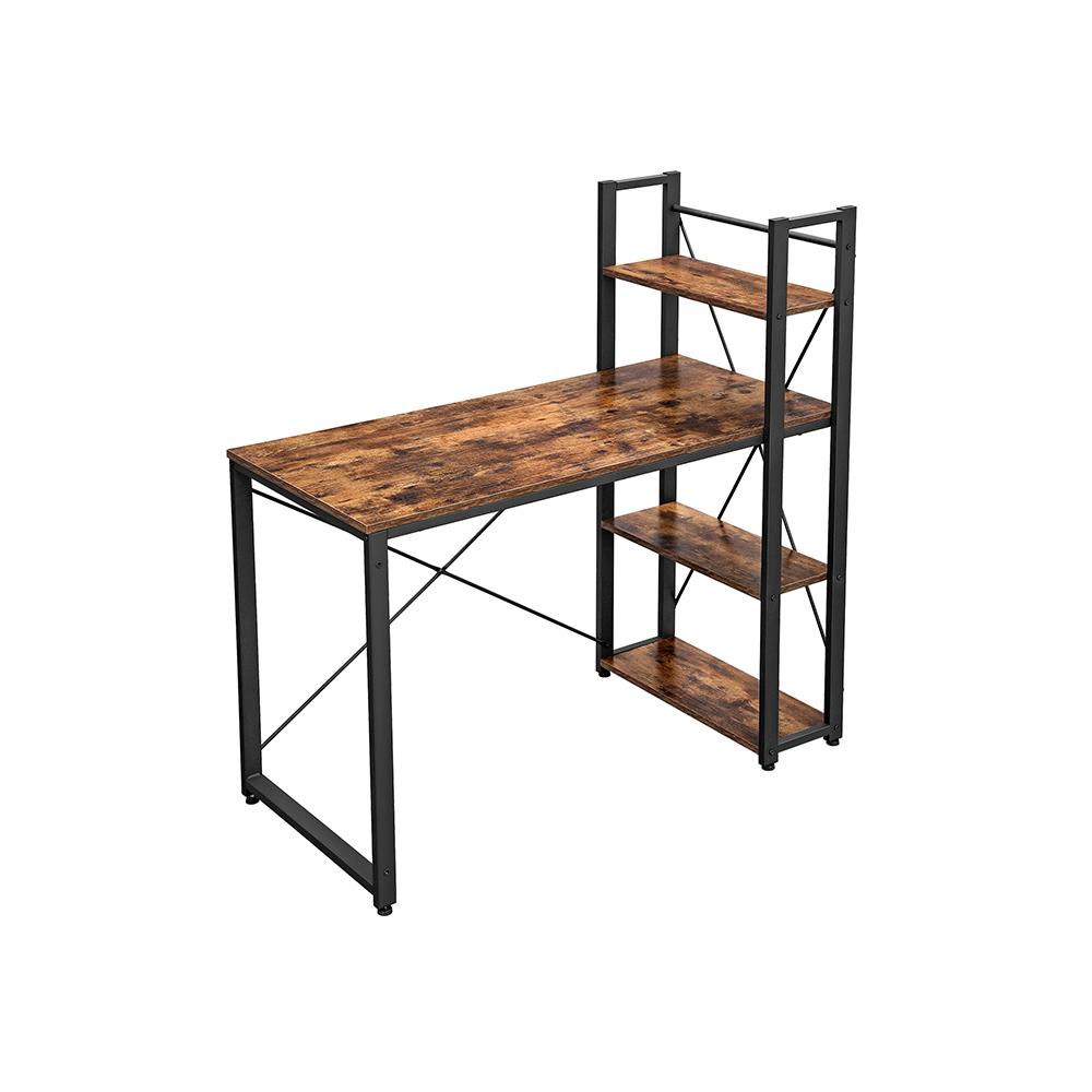 Vasagle 120cm Computer Desk with Shelves £69.99 Using Code (UK Mainland) @ Songmics