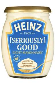 Heinz Seriously Good Light Glass Mayonnaise, 480 ml - £1.36 (+£4.49 Non Prime) / £1.29 S&S @ Amazon