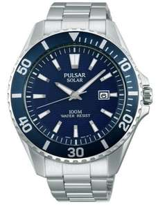 Pulsar Gents Solar Powered Sports Watch PX3033X1 NEW just £39.99 at Rubicon Watches