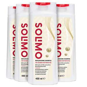 Solimo Replenishing Shampoo for Coloured Hair Protection With Keratin, UV Filter & Proteins- Pack of 4 £3.28 Amazon Prime (+£4.49 Non Prime)