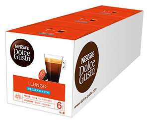 Nescafe Dolce Gusto Lungo Decaff Coffee Pods (Pack of 3, Total 48 Capsules) £9 / £8.10 S&S (Prime) / £13.49 (non Prime) at Amazon