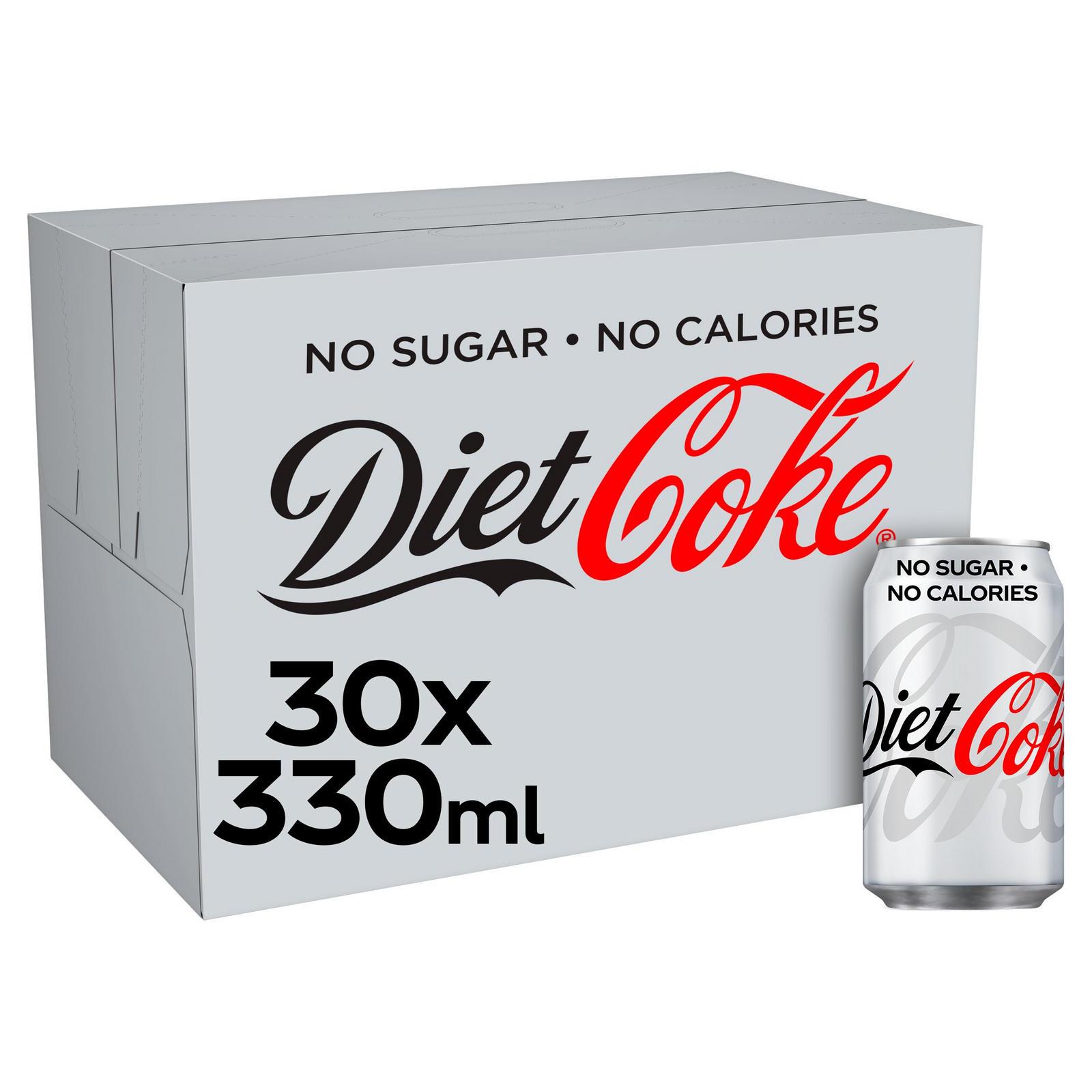 Diet Coke Cans 30x330ml £8.50 @ Asda Sutton