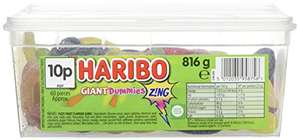 HARIBO Giant Sour Suckers, 816 g (Pack of 2 tubs) £6.66 (+£4.49 NP) @ Amazon