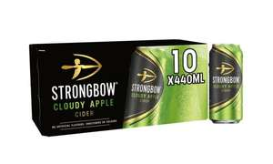 Strongbow Cloudy Apple Cider 10 x 440ml £7 at Morrisons