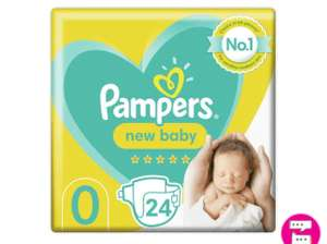 Pampers New Baby Size 0 Nappies Carry Pack x24 £2.49 (Free Click And Collect) at Superdrug