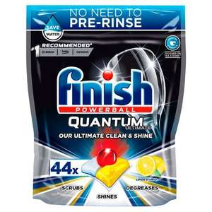3x Finish Quantum Ultimate Lemon 44 Dishwasher tablets £13 with Clubcard + code (Minimum Basket / Delivery Fee Applies) @ Tesco