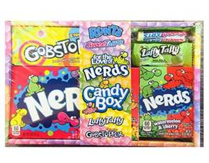 Nerds Candy Gift Box Hamper 245g £7.99 (+£4.49 non-prime) - Sold by NM Favours Ltd and Fulfilled by Amazon.