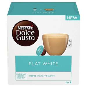 Nescafe Dolce Gusto Flat White Coffee Pods (Pack of 3, Total 48 Capsules) - £8.97 (+£4.49 Non-Prime) @ Amazon