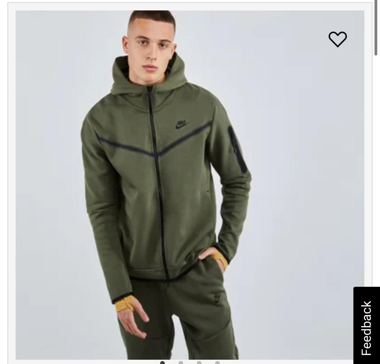 Nike tech fleece full zip green-black-green £49.99 @ Foot Locker