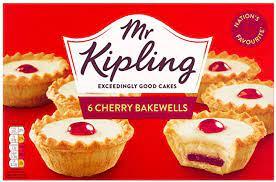 Mr Kipling Cherry Bakewells 6 Pack £0.85 or Mr Kipling Viennese Whirls 6 Pack £0.82 @ Asda