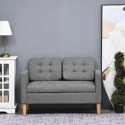 Modern 2 Seater Grey Compact Storage Sofa £161.49 using discount code @ eBay / 2011homcom