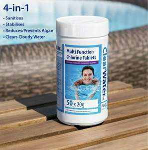 Clearwater multifunction chlorine tablets lay-z-spa - £12 instore @ B&M (Glasgow)