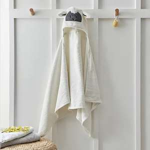 Easter Sheep Embroidered 100% Cotton Hooded Towel - Available for Collection Only - FREE Click & Collect - £3.50 @ Dunelm