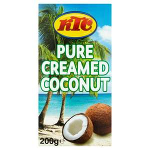 KTC Creamed Coconut Box 200g for 60p at Sainsbury's