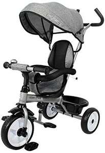 Ricco Kids Easy Steer Pedal Tricycle Buggy Stroller with Oxford Cloth XG18859 (GREY)( Magenta for £49.20 ) - £48.97 Delivered @ Amazon