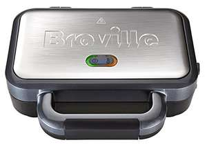 Breville Deep Fill Sandwich Toaster and Toastie Maker with Removable Plates, Non-Stick, Stainless Steel [VST041] - £22 @ Amazon