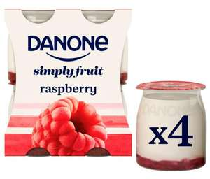 Danone (Raspberry/ Strawberry/ Peach) No Added Sugar Yogurts 4 x110ml - £1 @ Asda