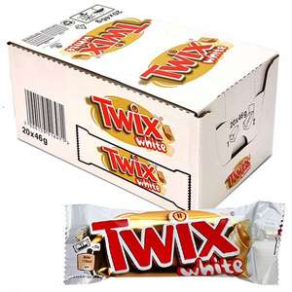 20 x Twix White Chocolate Standard 46g Bars (short dated BBE 25/04/2021) £7 at Yankee Bundles