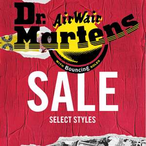 Up to 30% off Sale on selected styles - £3.95 delivery / Free over £50 @ Dr Martens