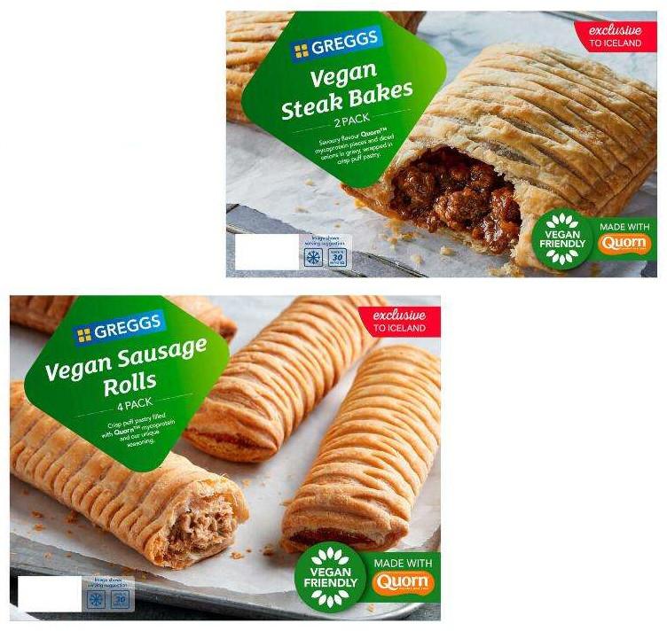 Greggs Vegan Sausage Rolls 4 Pack 420g or Greggs 2 Vegan Steak Bakes 304g - £1.25 each @ Iceland