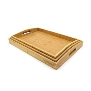 Bamboo Serving Trays - Set of 3 - £8.49 / £11.44 Delivered @ Roov