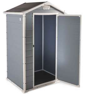 Keter Manor Garden Shed Grey - 4.2 x 3.4 x 6.4ft now £179.99 + £9.95 delivered at Aldi