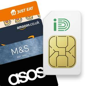 iD Mobile Sim Only - 15GB Data, Unlimited Minutes and Texts £8pm + £15 eGift Card (30 day) @ iD Mobile via Giftcloud