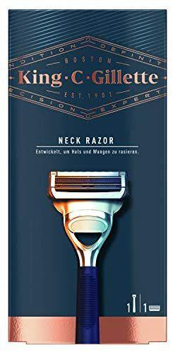 Gillette King C. Neck Razor for Men + 1 Stainless Steel Platinum Coated Refill Blade - £3.37 Prime (+£4.49 Non Prime) @ Amazon