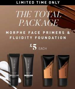 Morphe Fluidity Full Coverage Foundation Now £5 (60 shades available) Also Primers for £5 Delivery is £5 or Free with £20 spend @ Morphe