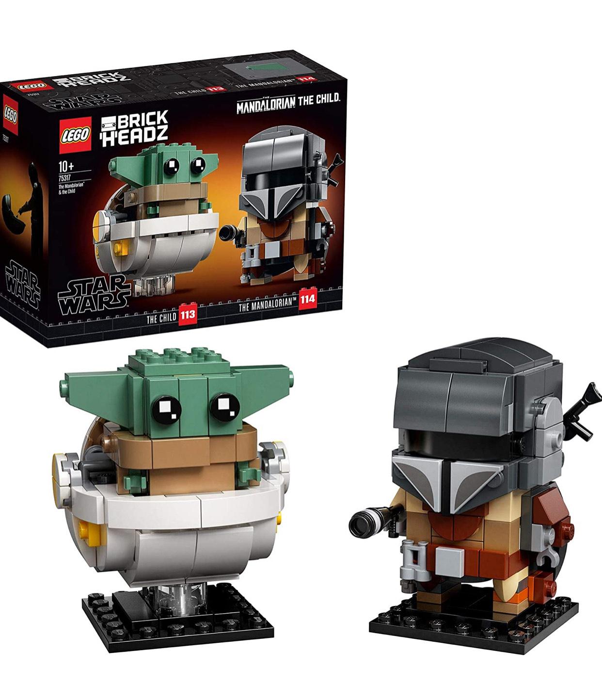 """LEGO 75317 BrickHeadz Star Wars The Mandalorian & The Child """"Baby Yoda"""" Set £14.40 Amazon/ + £4.49 non Prime at Amazon"""