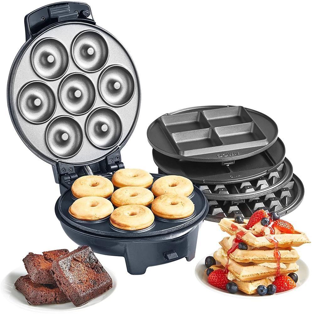VonShef 3-in-1 Waffle Maker, Brownie & Doughnut Maker £43.48 delivered at Home Bargains