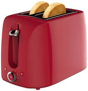 Cookworks 1050W 2 Slice Wide Slot Toaster - Red £5.49 / Green Kettle £6.49 delivered @ Argos / ebay