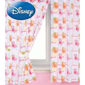 "Disney High School Musical 66"" X 72"" Pencil Pleat Curtains With Tie Backs Cotton £4.49 delivered @ caltd_uk / ebay"
