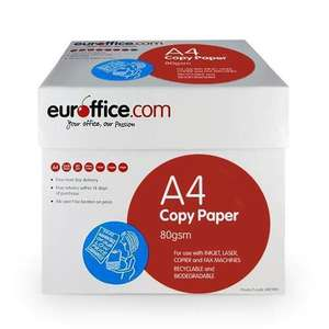 15 Reams (3 boxes, 7500 sheets) A4 Paper £36.78 (£2.45 per ream) at Euroffice