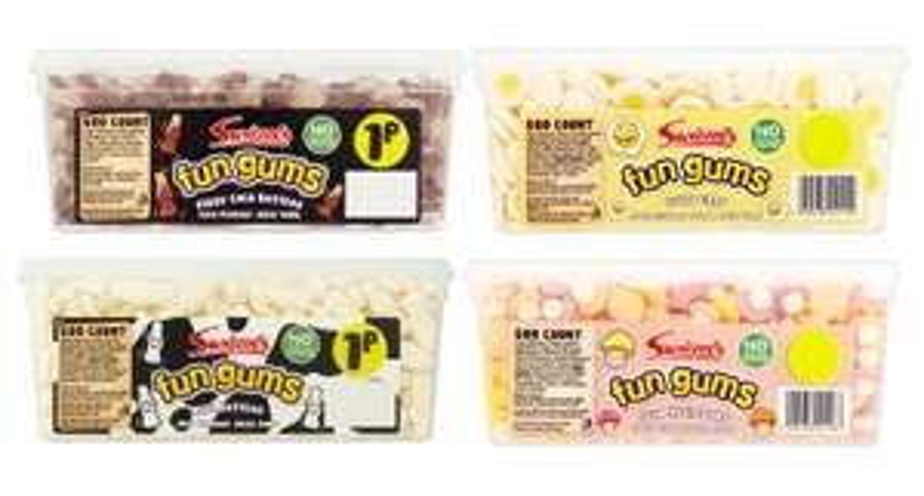 Swizzles Fun Gums Milk Bottles, Foam Mushrooms, Fizzy Cola Bottles, Fried Eggs (600 count) - £4.00 instore / online @ Iceland