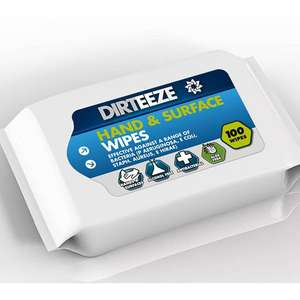 Dirteeze Hand & Surface Wipes (100 Pack) 75p @ Euro Car Parts