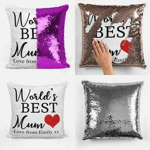 Personalised Sequin Cushion - Buy 1 Get 1 Free With Code (From £15.99) + £3.50 P&P via Personalised Treasure
