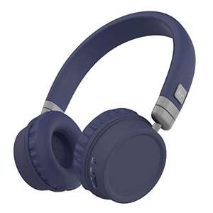 KitSound Harlem Wireless Bluetooth On-Ear Headphones with Microphone - Blue £9.99 Prime (+£4.49 NP) @ Amazon