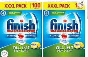 Finish Powerball All In 1 Lemon Dishwasher Tablets, 2 x 100 Pack £16.69 @ Costco