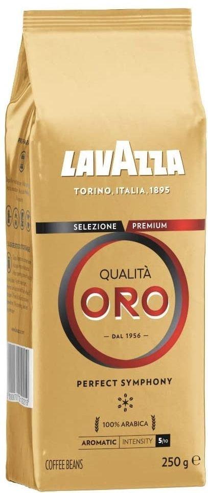Lavazza Qualità Oro, 100% Arabica Medium Roast Coffee Beans, 250 g, (Pack of 6) £12.83 (+£4.49 non-prime) @ Amazon