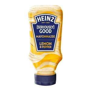Heinz Seriously Good Mayonnaise Lemon & Black Pepper 69p or 2 for £1 @ B&M (Barry)