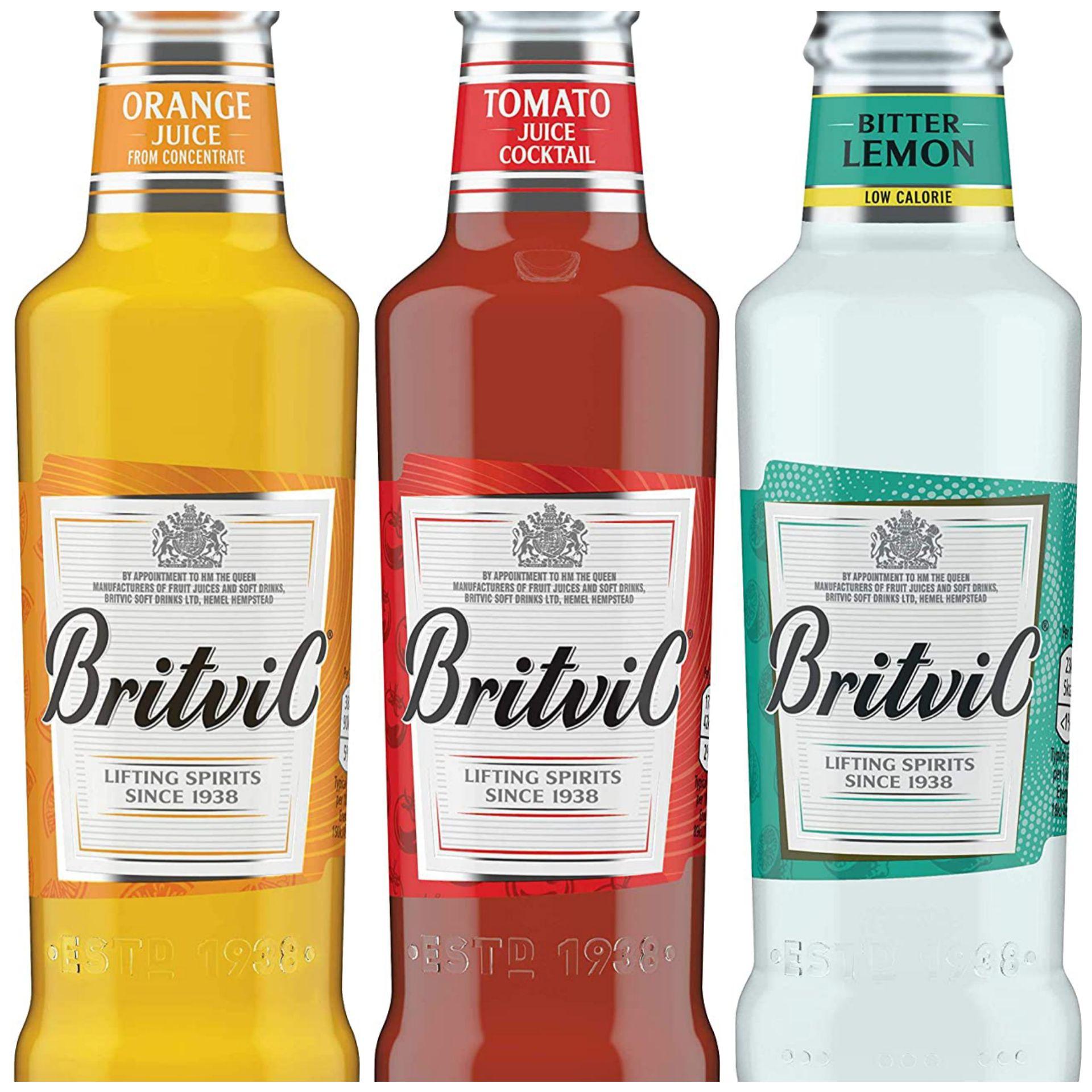 Britvic Orange Juice / tomato juice / bitter lemon 24 X 200ml £10 (£4.49 p&p np) 20% voucher and s&s £6.50/ £7 @ Amazon