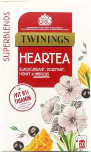 Twinings SuperBlends Heartea, Herbal 20 Tea Bags £1.35 with prime (+£4.49 non prime) @ Amazon