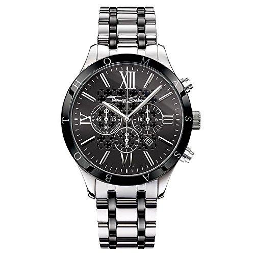 Thomas Sabo Men's Watch Rebel Urban silver black Analogue Quartz (B00EAU4S1S) £235 at Amazon