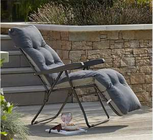 Padded Foldable Charcoal/Striped Lounger £30 + £3.95 delivery at Dunelm
